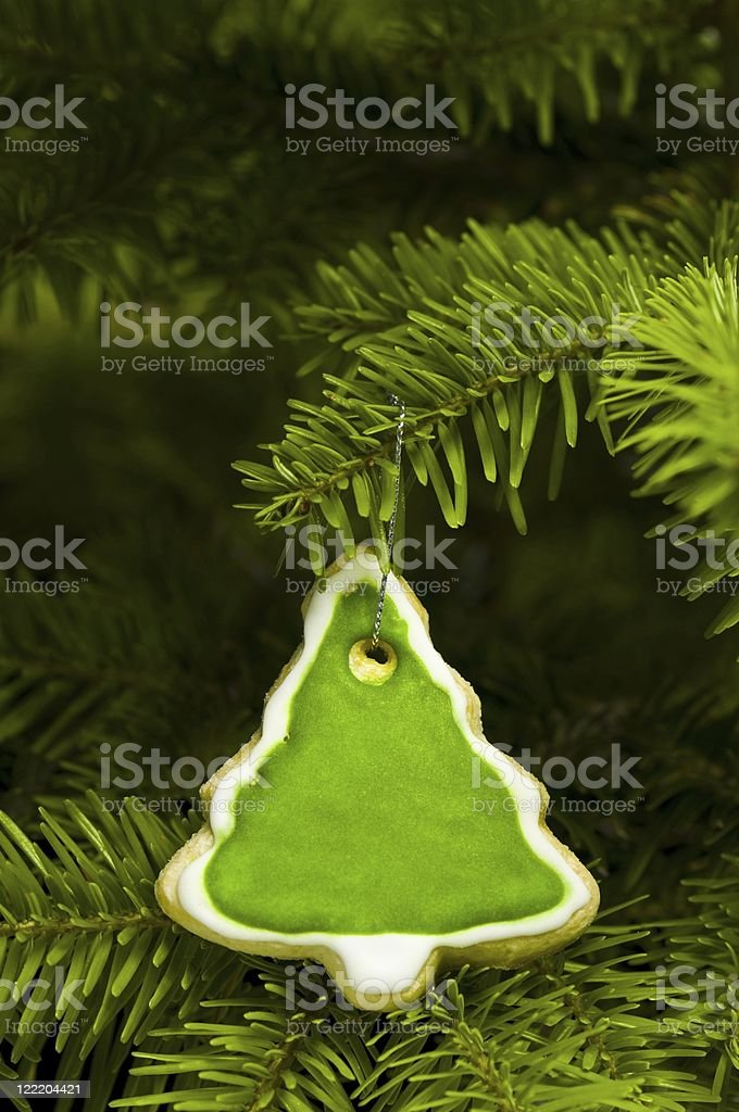 Short bread cookie in Christmas tree royalty-free stock photo