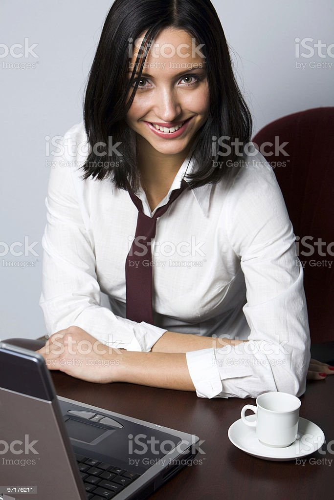 Short break on the work place royalty-free stock photo