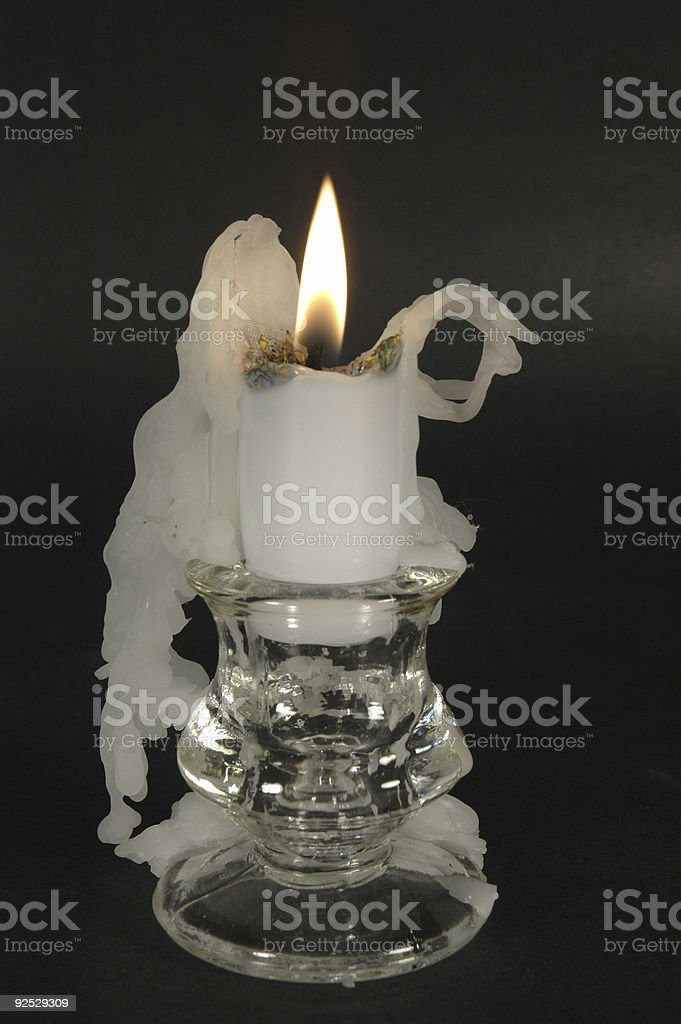 Short Candle stock photo