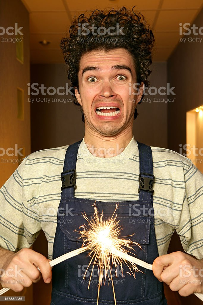 Short circuit stock photo