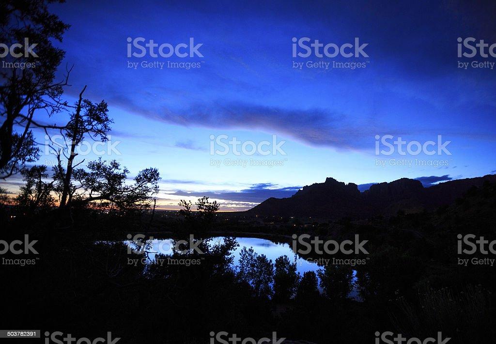 Short Creek Sundown royalty-free stock photo