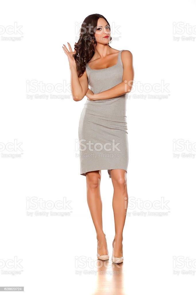 short dress and high heels stock photo