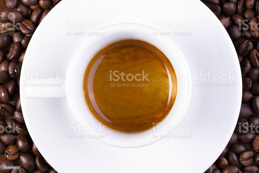 Short espresso royalty-free stock photo