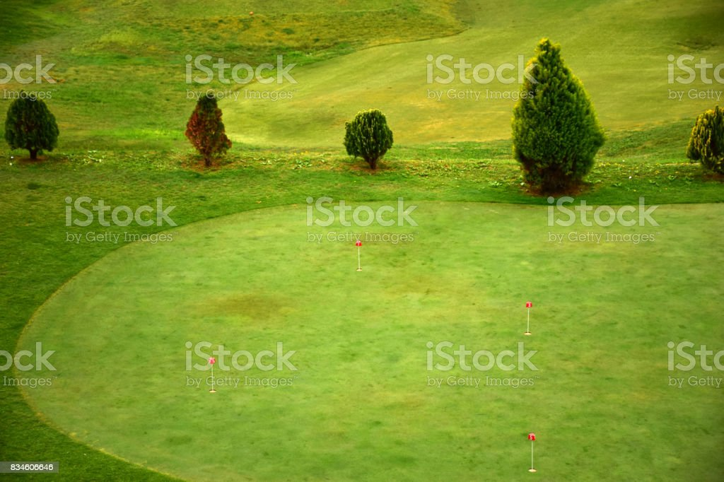 Short golf course stock photo