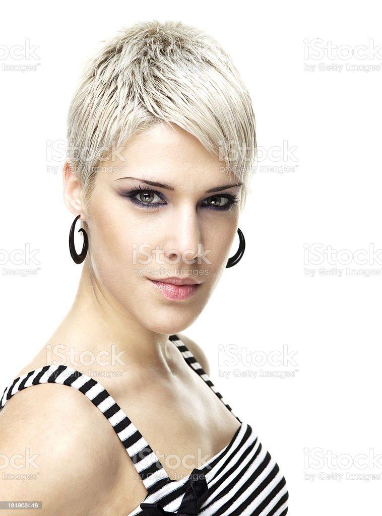 short hair blond royalty-free stock photo