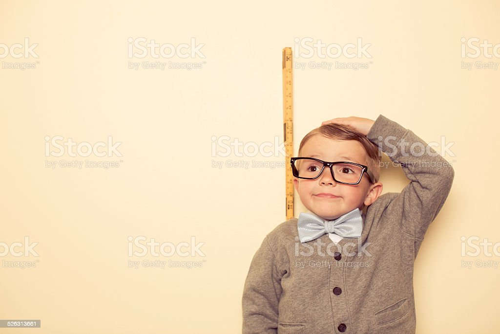 Short Male Nerd stock photo