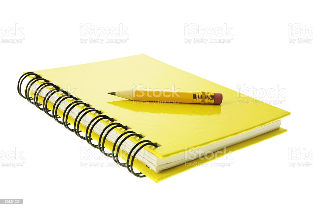 Short Pencil on Note Book royalty-free stock photo