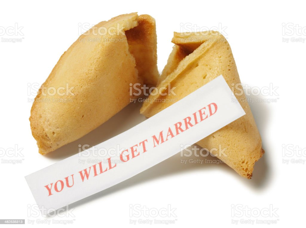 Short Phrase with a Fortune Cookie stock photo