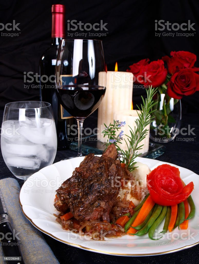 Short Rib Dinner royalty-free stock photo
