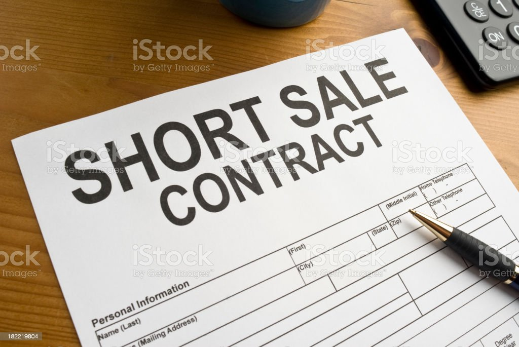 Short Sale Contract royalty-free stock photo