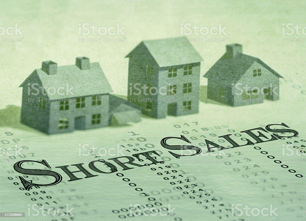 Short sales stock photo