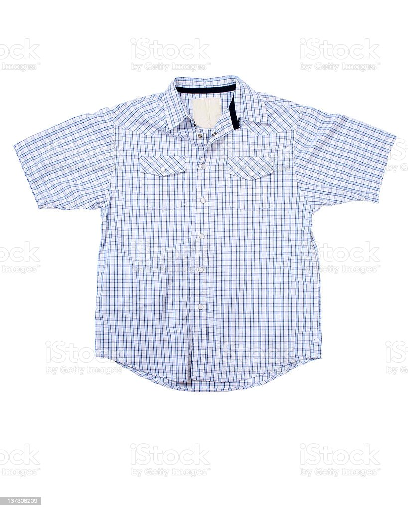 XXL Short Sleeve Shirt on White Background stock photo