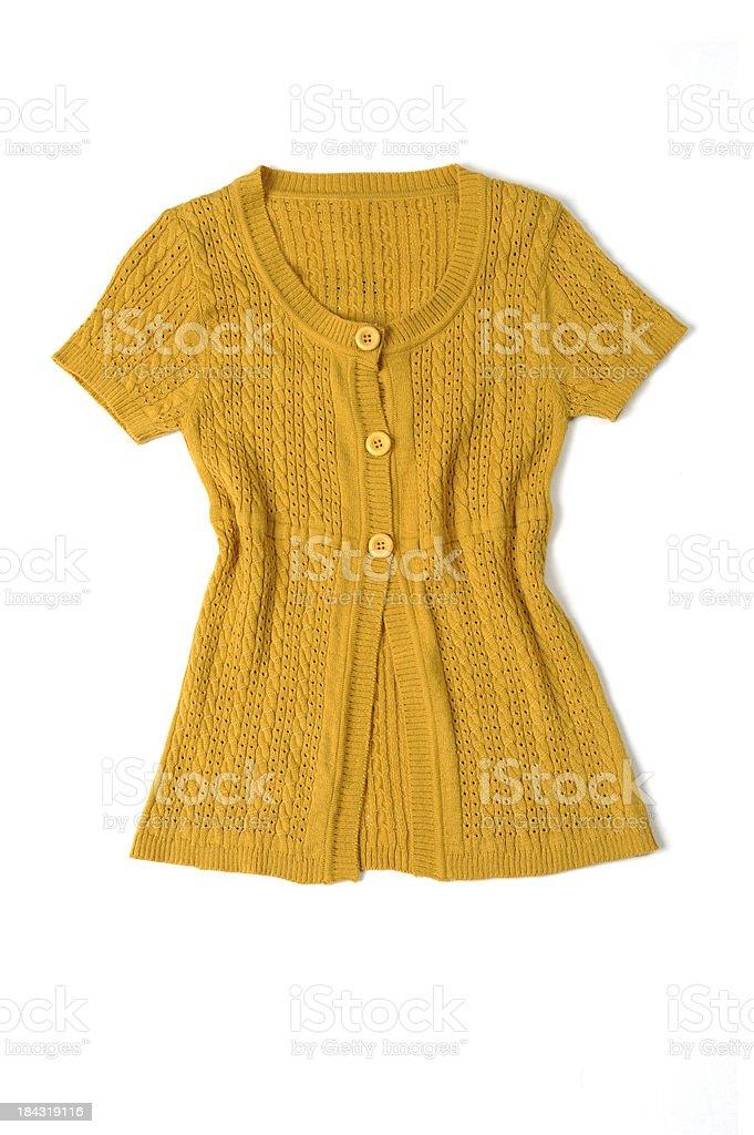 Short sleeved cardigan stock photo