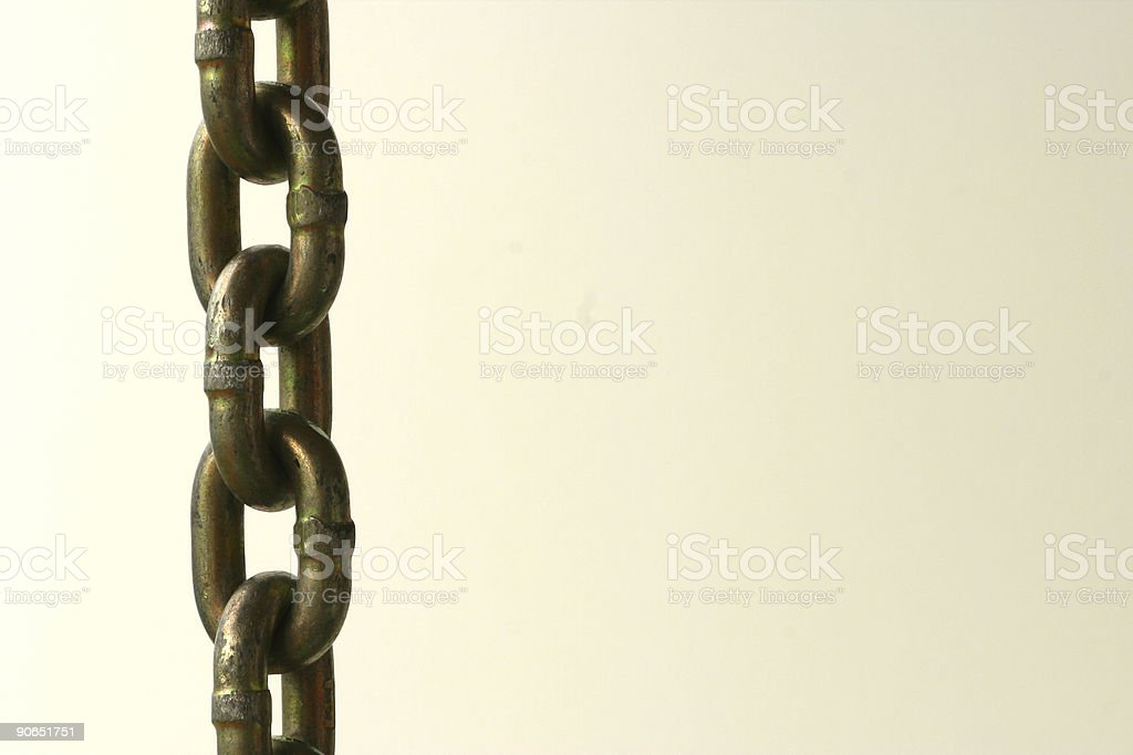 short span of chain royalty-free stock photo