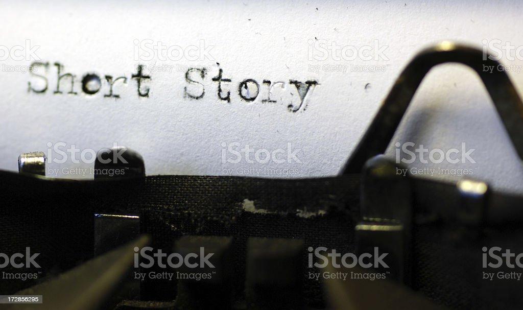 Short story royalty-free stock photo
