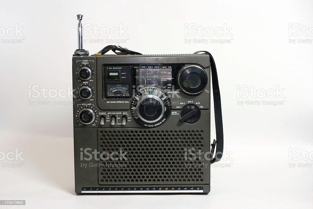 Short wave radio with clipping path royalty-free stock photo