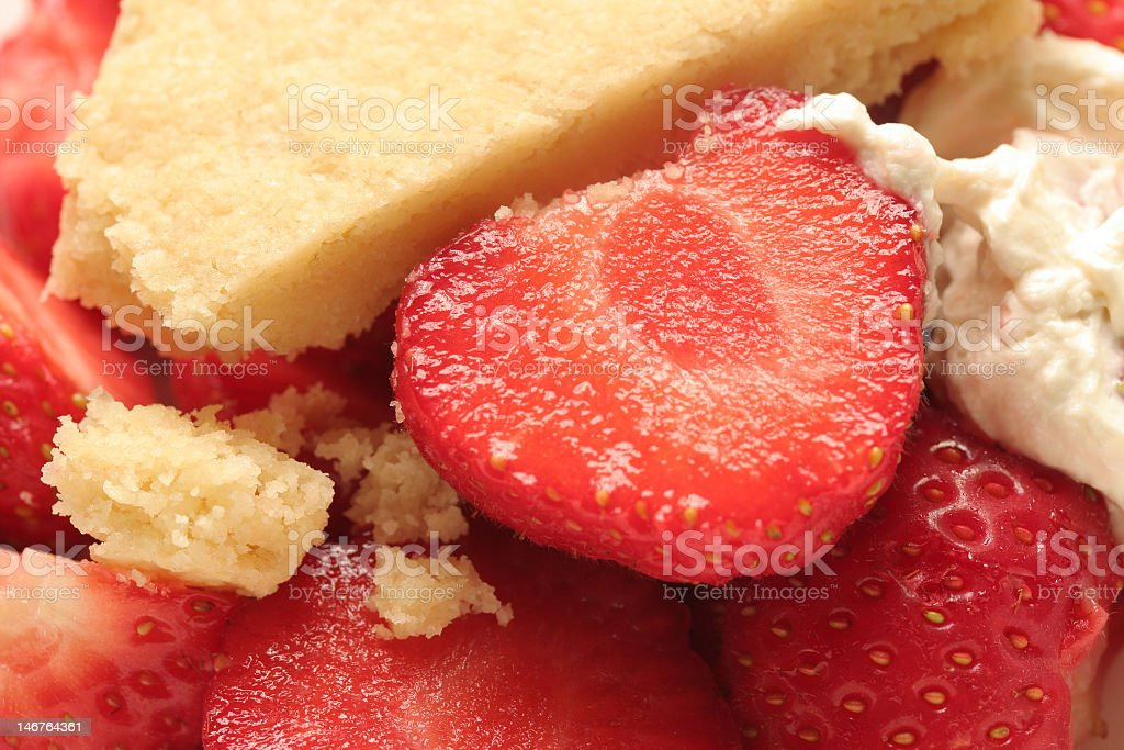shortbread and strawberries royalty-free stock photo