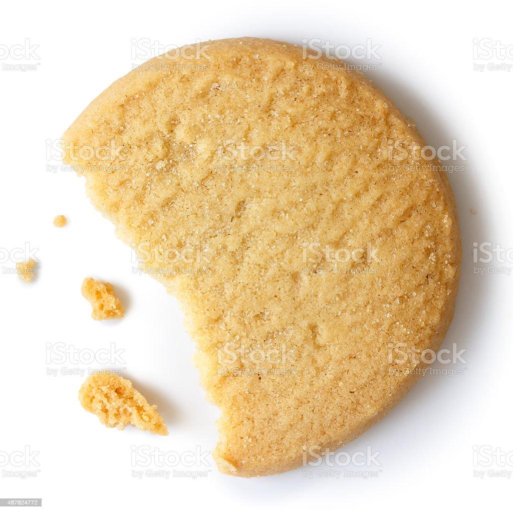 Shortbread biscuit. stock photo