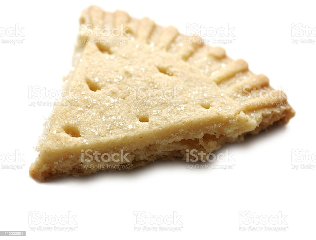 shortbread cake buscuit against white royalty-free stock photo