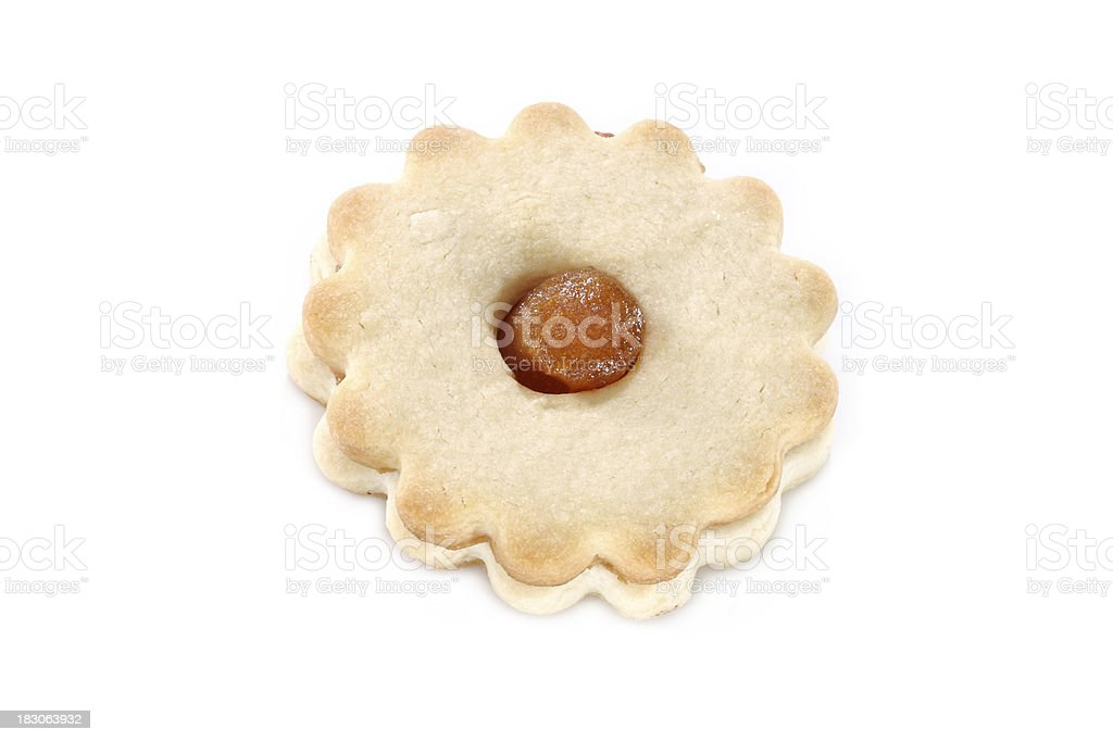Shortbread christmas linzer cookie royalty-free stock photo