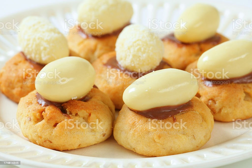 shortbread coconut cookies royalty-free stock photo