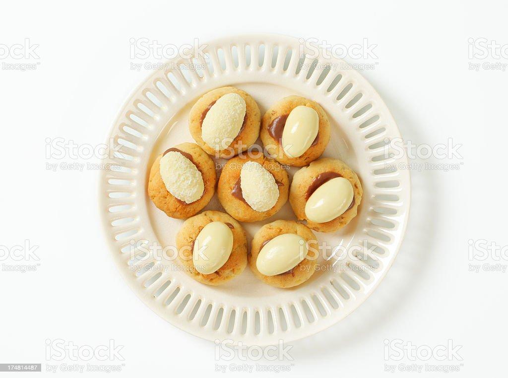 shortbread coconut cookies royalty-free stock photo
