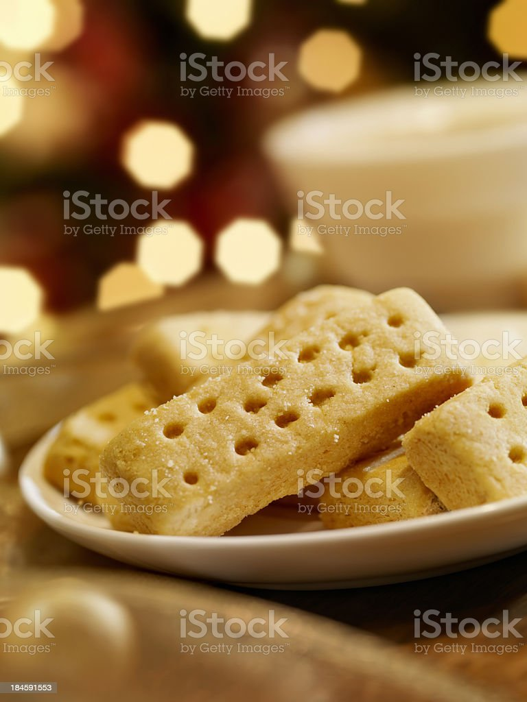 Shortbread Cookies at Christmas Time royalty-free stock photo
