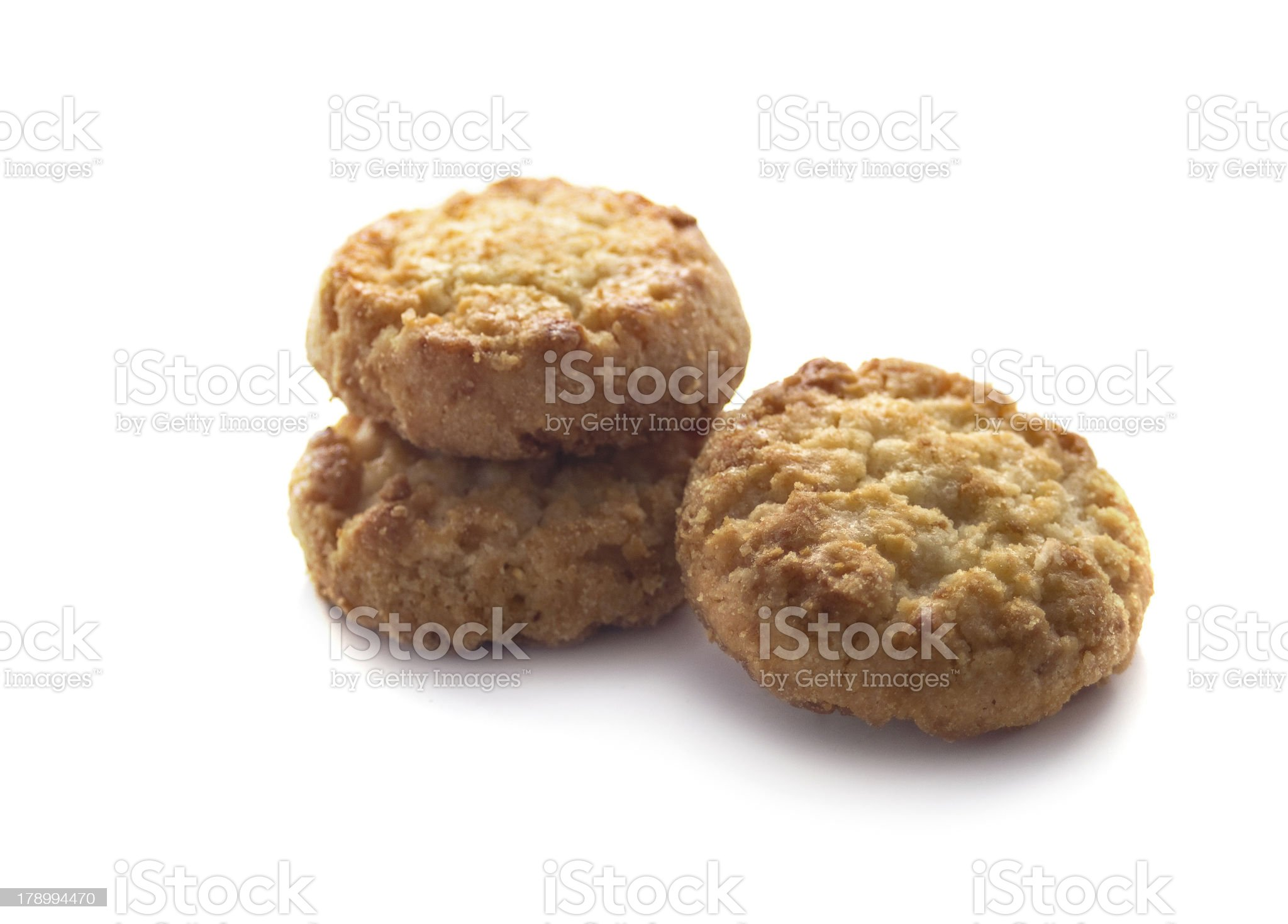 shortbread cookies isolated on white royalty-free stock photo
