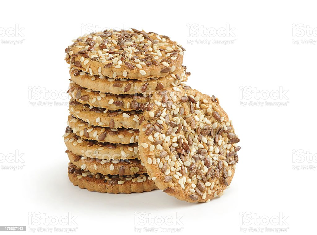 shortbread cookies with flax seeds royalty-free stock photo