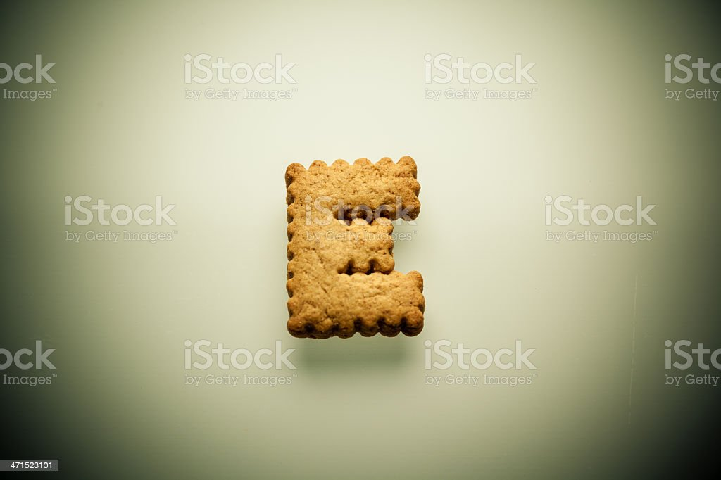 Shortbread Letter E royalty-free stock photo