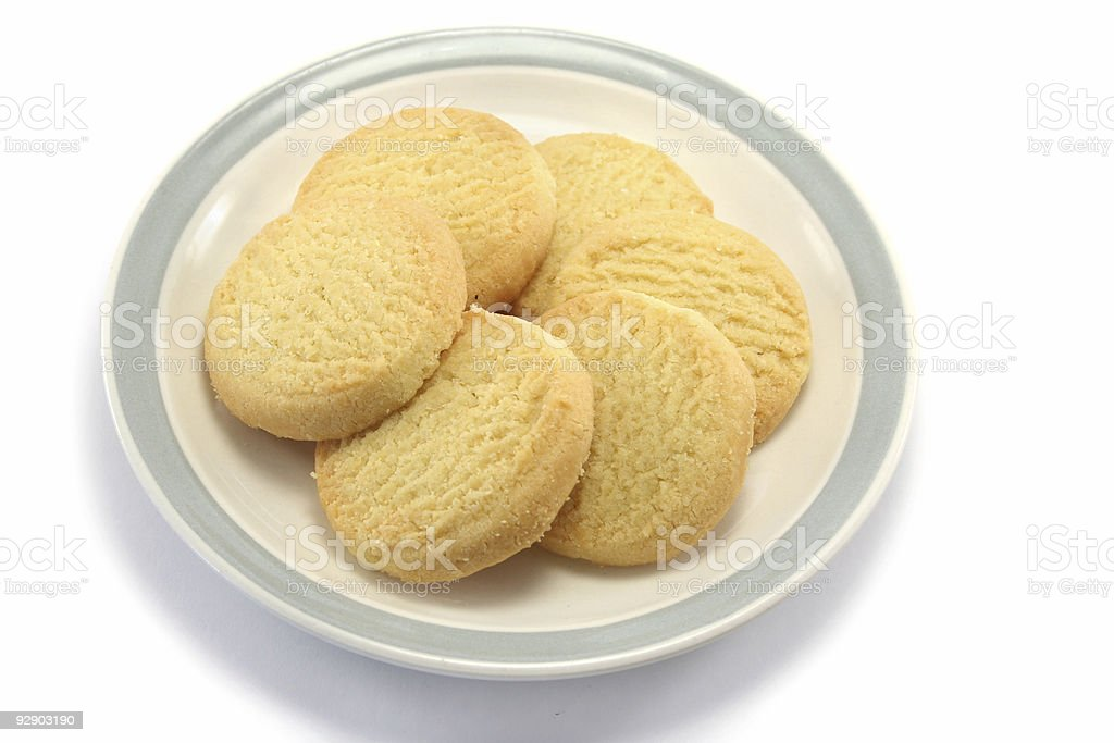 Shortbread on a Plate - high viewpoint royalty-free stock photo