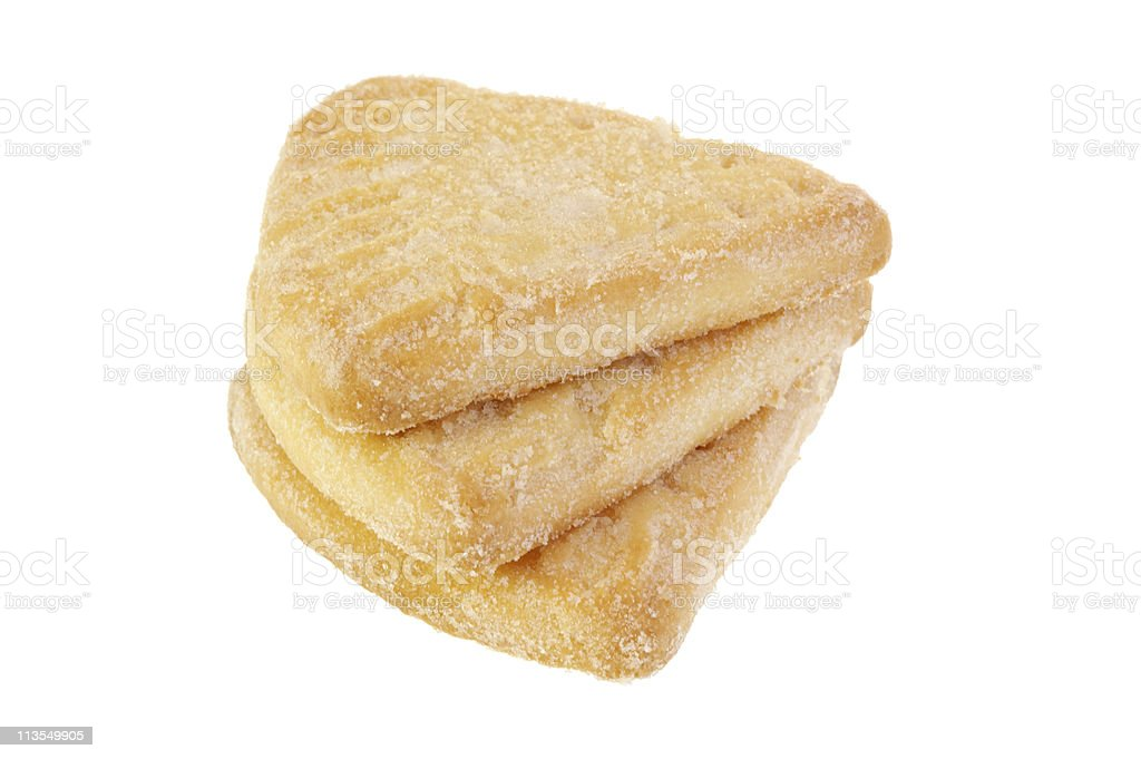 Shortbread stack royalty-free stock photo