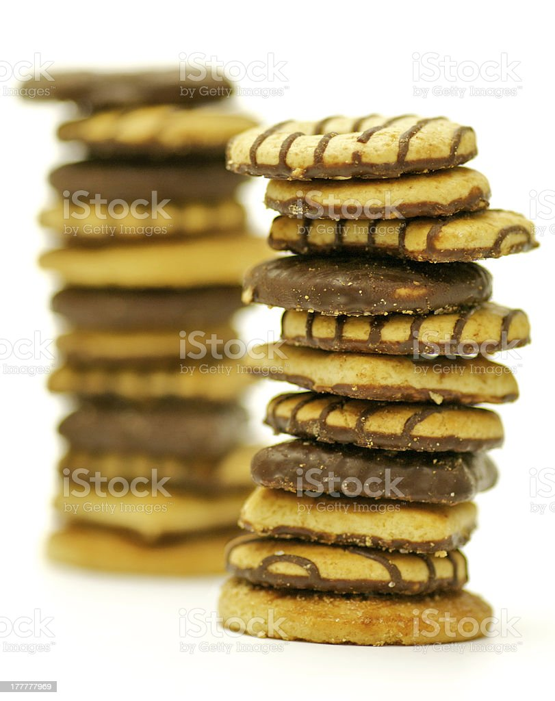 Shortcakes with Chocolate Glaze royalty-free stock photo