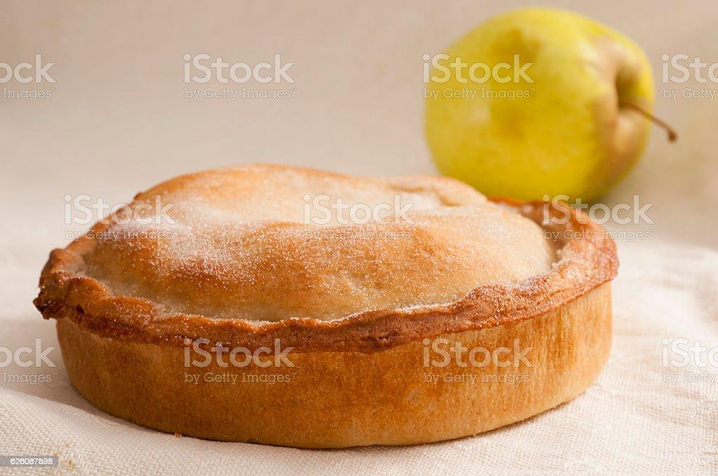 Shortcrust Pie with Apple stock photo