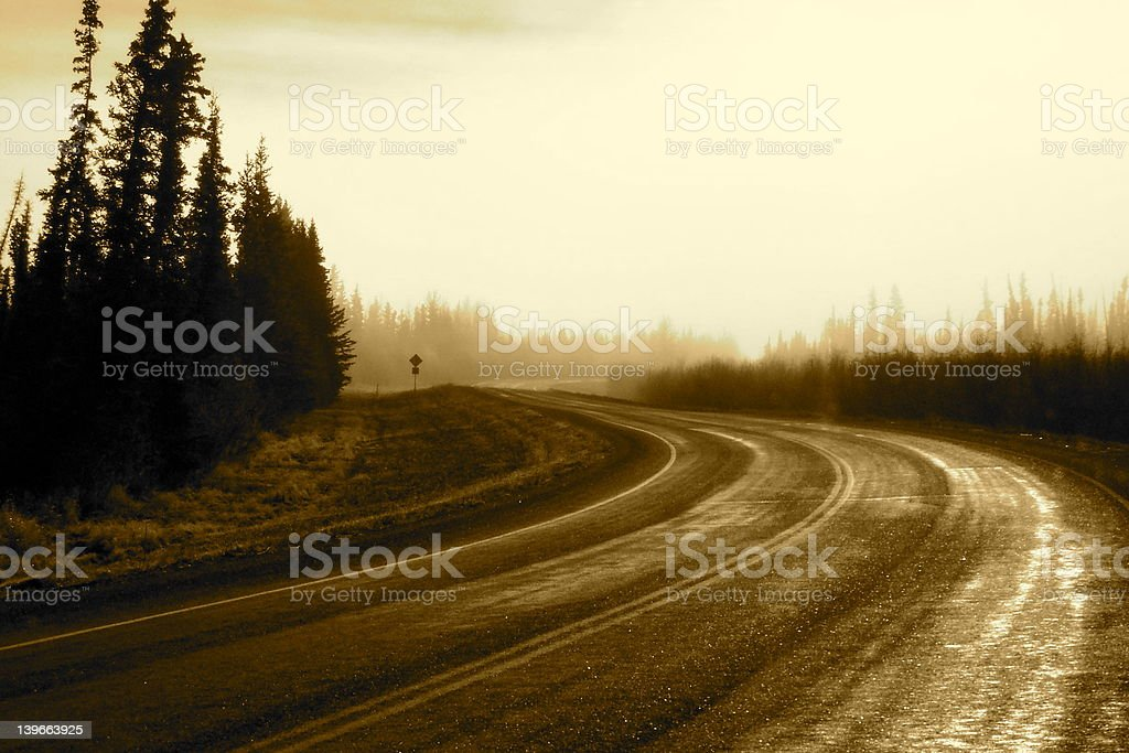 Shortcut through the mist royalty-free stock photo