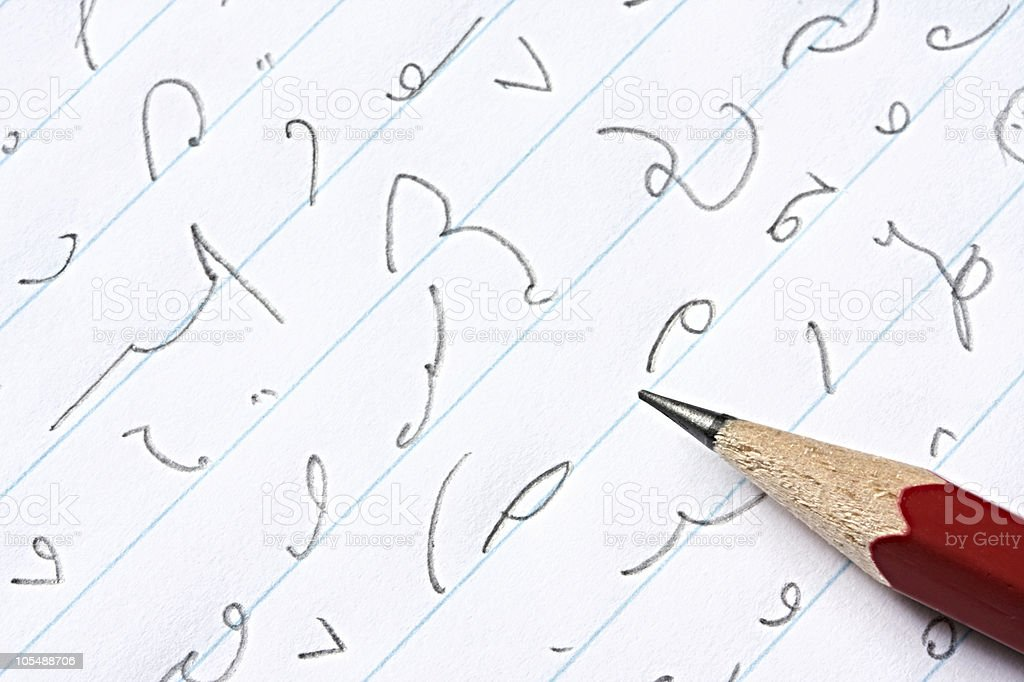 Shorthand stock photo