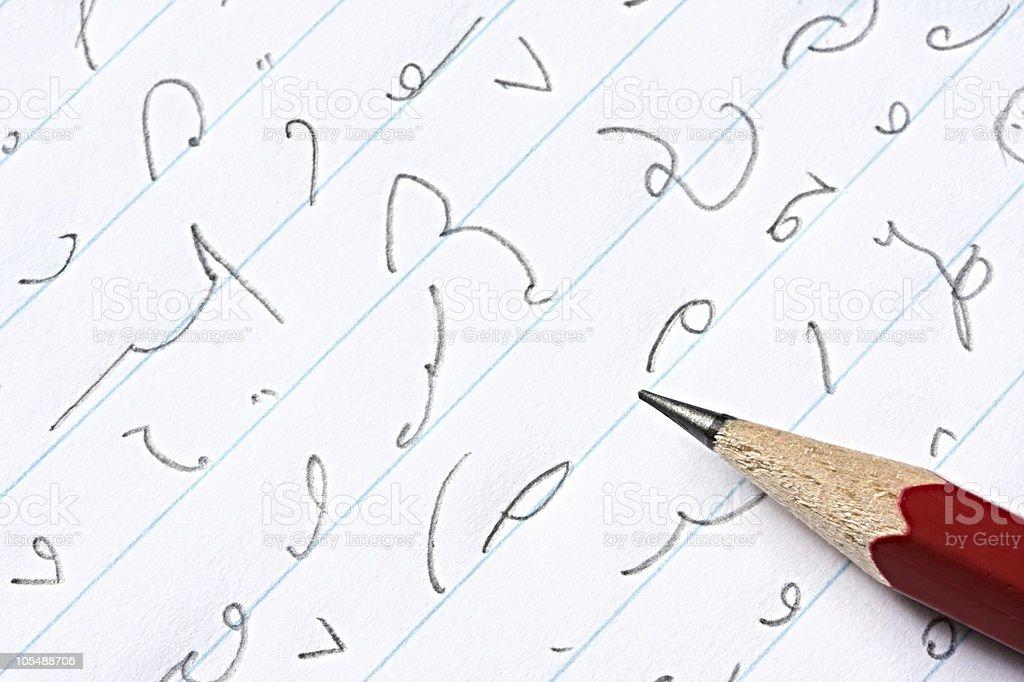 Shorthand stock photo