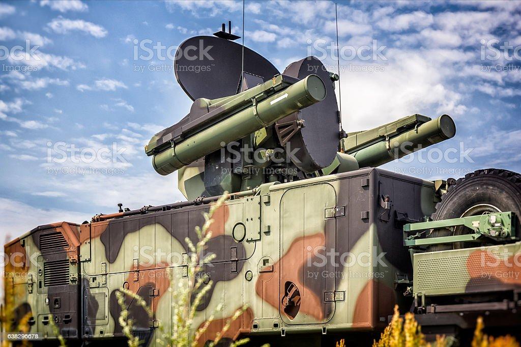 Short-range air missile stock photo