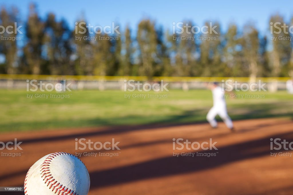 Shortstop to Home stock photo