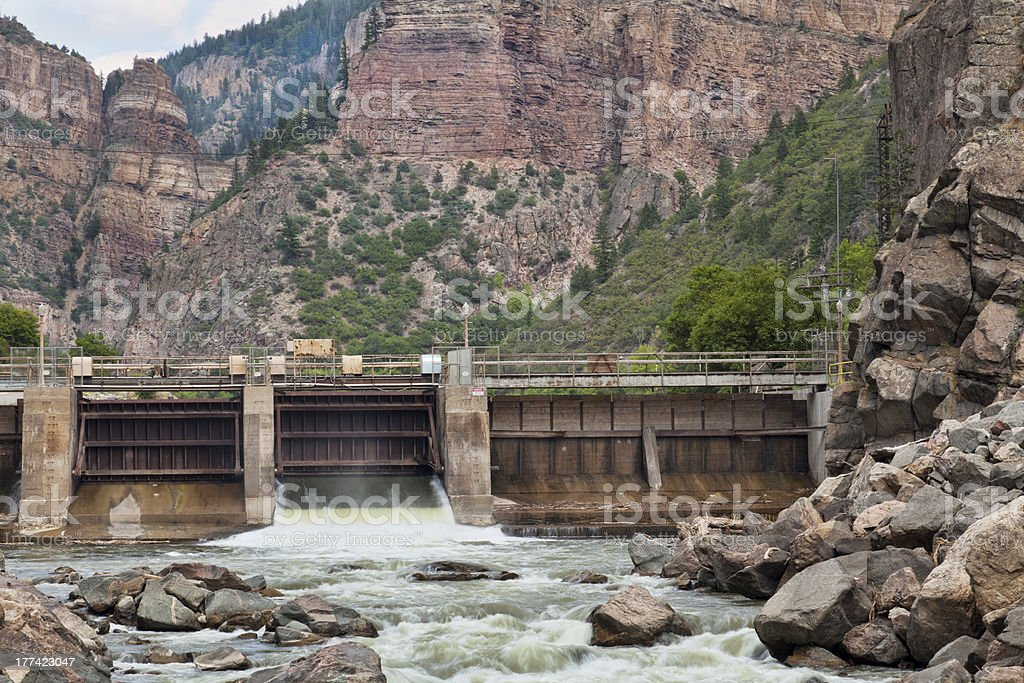 Shoshone Dam on Colorado RIver stock photo