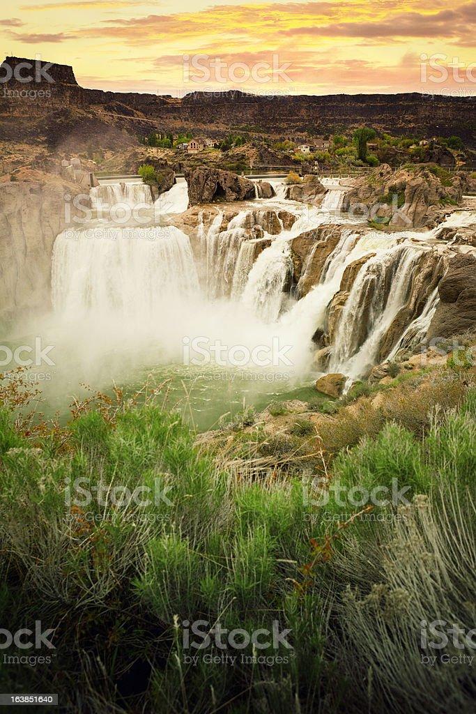Shoshone Falls at Sunset royalty-free stock photo