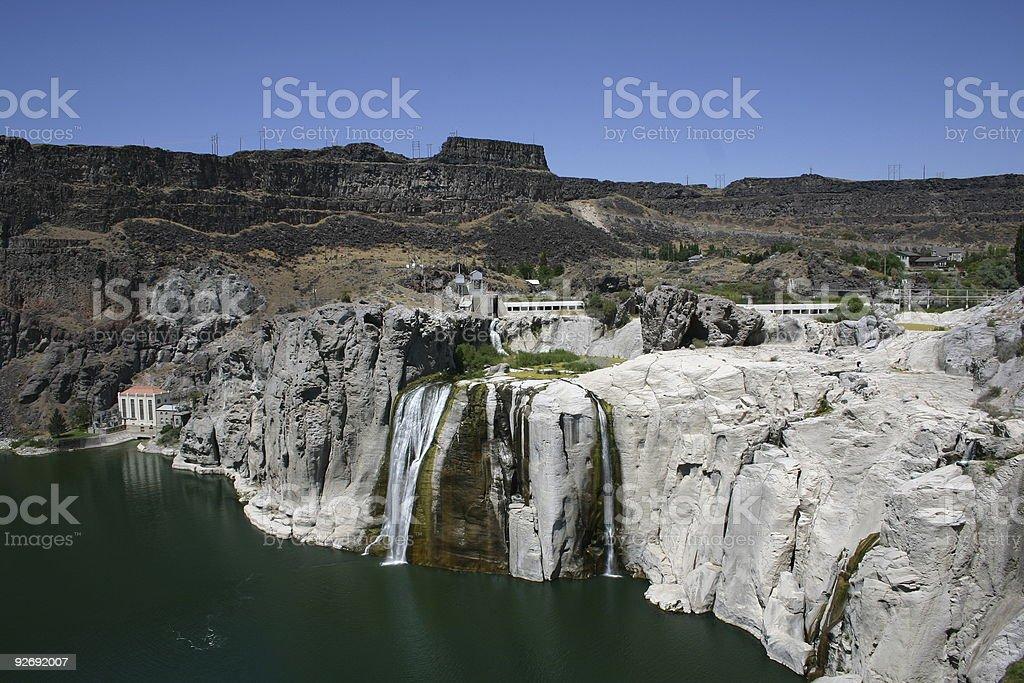 Shoshone Falls in Idaho stock photo