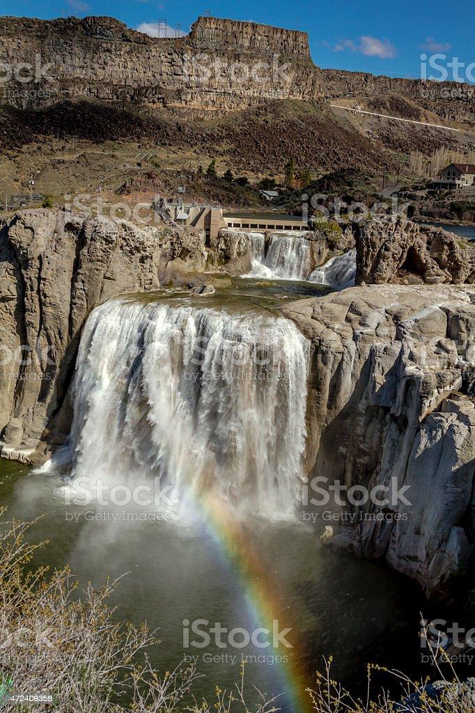 Shoshone Falls in Twin Falls Idaho stock photo