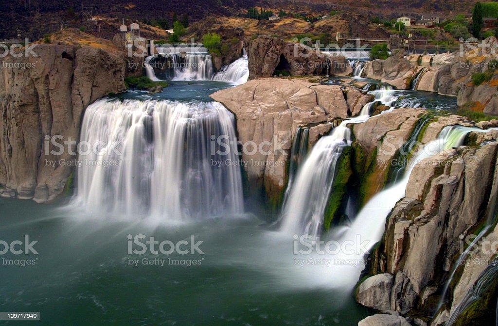 Shoshone Falls on Snake River stock photo