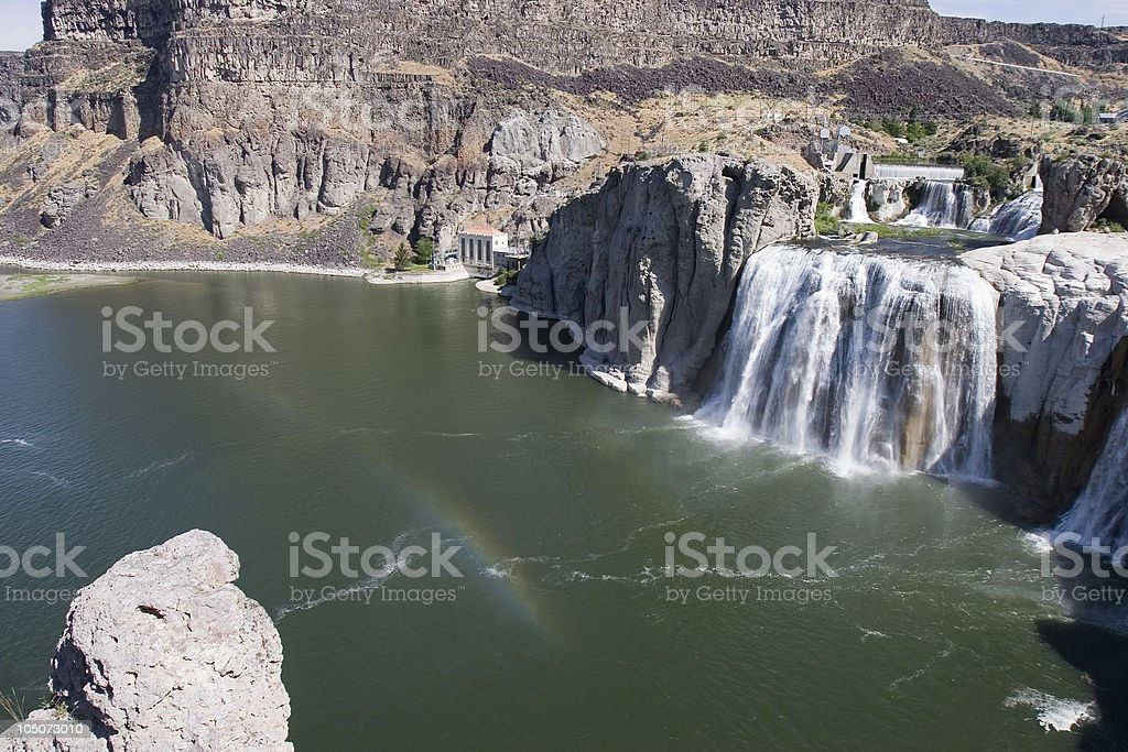Shoshone Falls Rainbow royalty-free stock photo