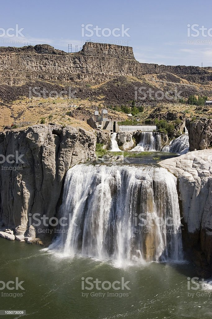 Shoshone Falls Vertical royalty-free stock photo