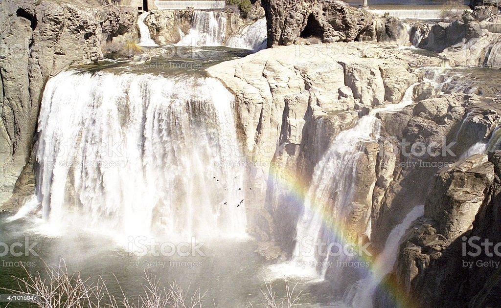 Shoshone Falls w/ Rainbow royalty-free stock photo
