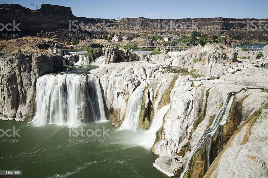Shoshone Falls Waterfall in Idaho stock photo