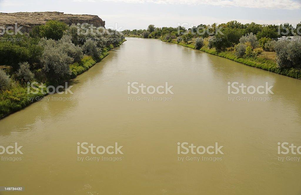 Shoshone River, Wyoming stock photo