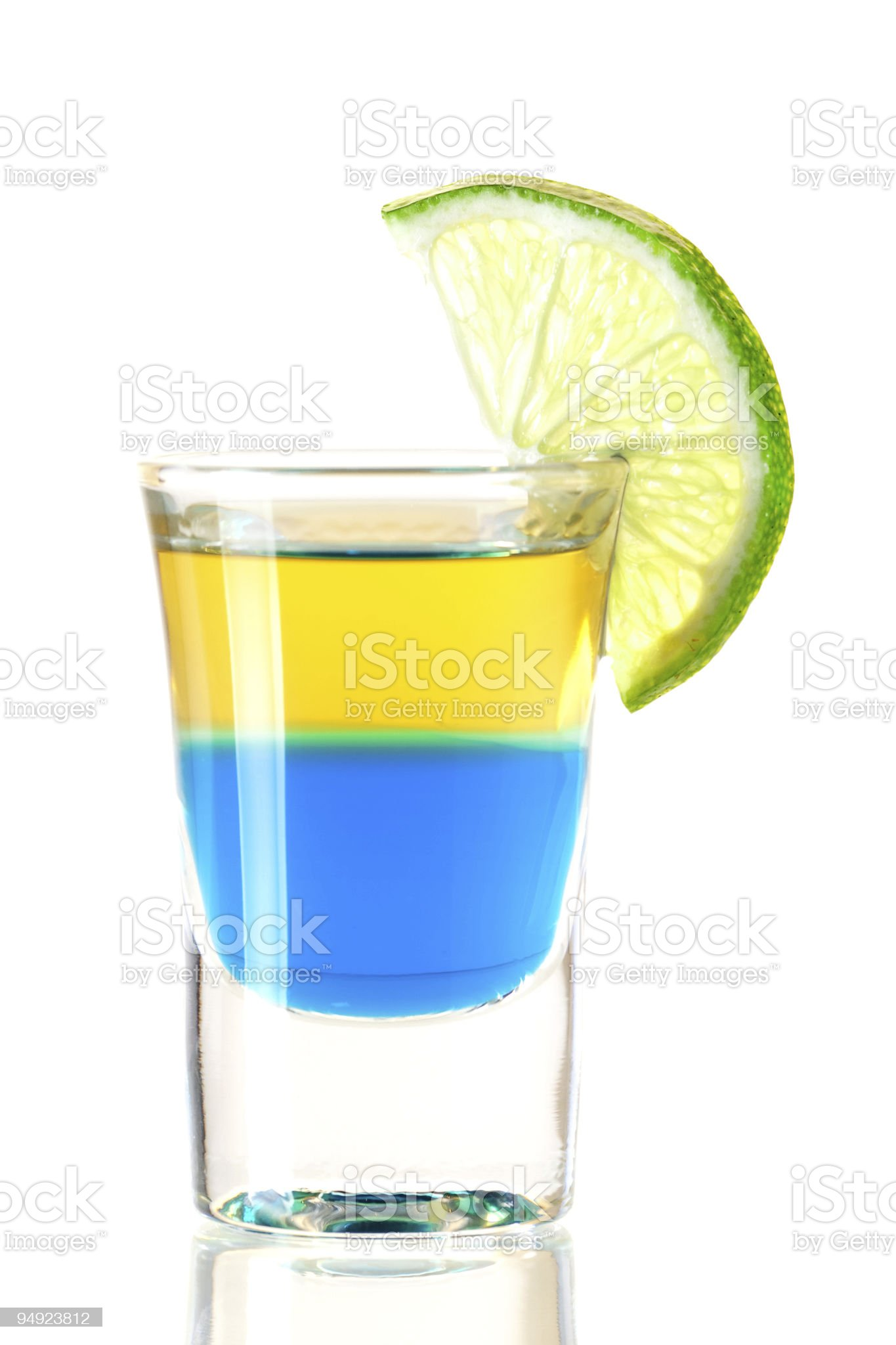 Shot cocktail collection: Blue Tequila royalty-free stock photo